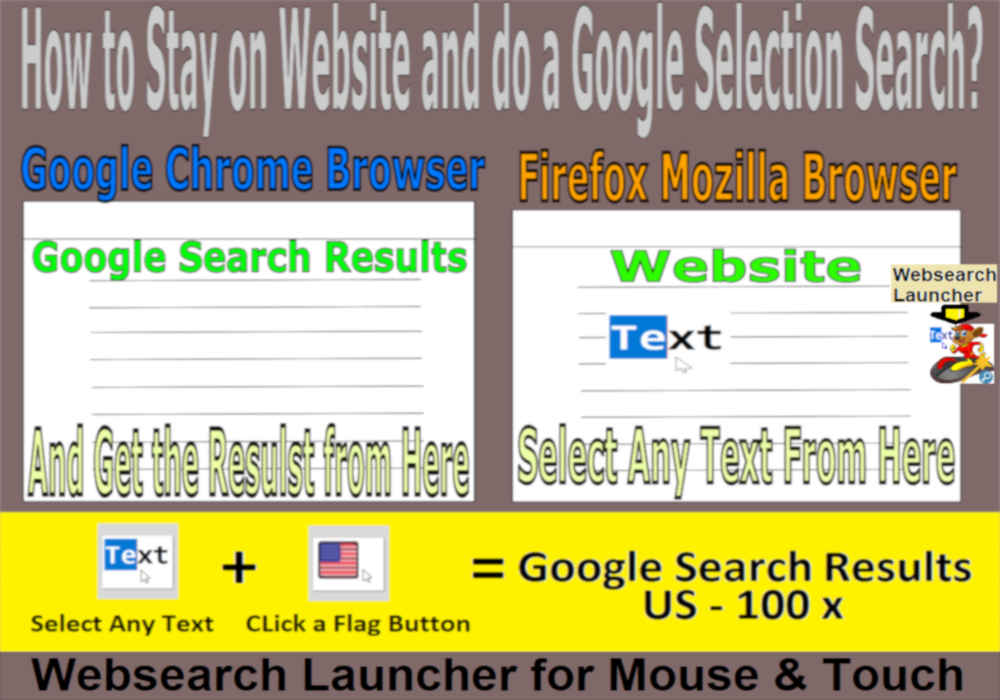 stay on website and do a google-search