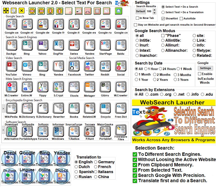 Windows 10 Websearch Launcher full