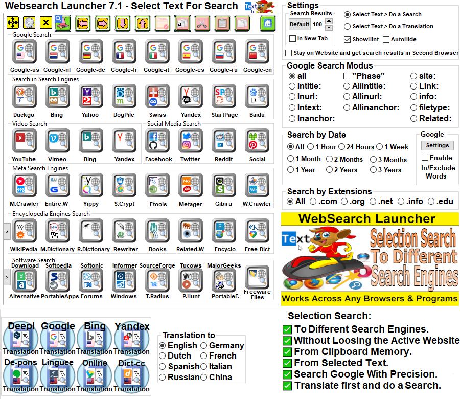 Websearch Launcher 7.1 full
